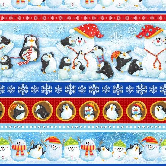 Penguin Paradise Stripe