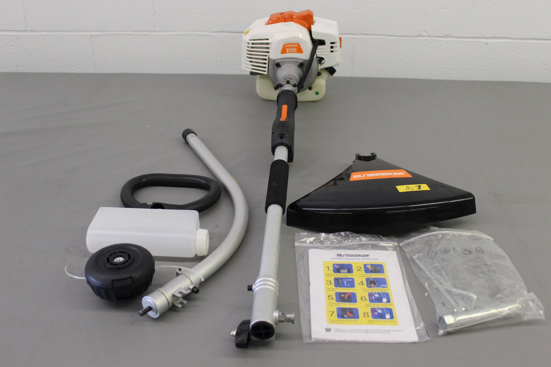 R-GTI26: Sunseeker 2-Cycle 26 cc Curved Shaft Gas String Trimmer and Brush Cutter