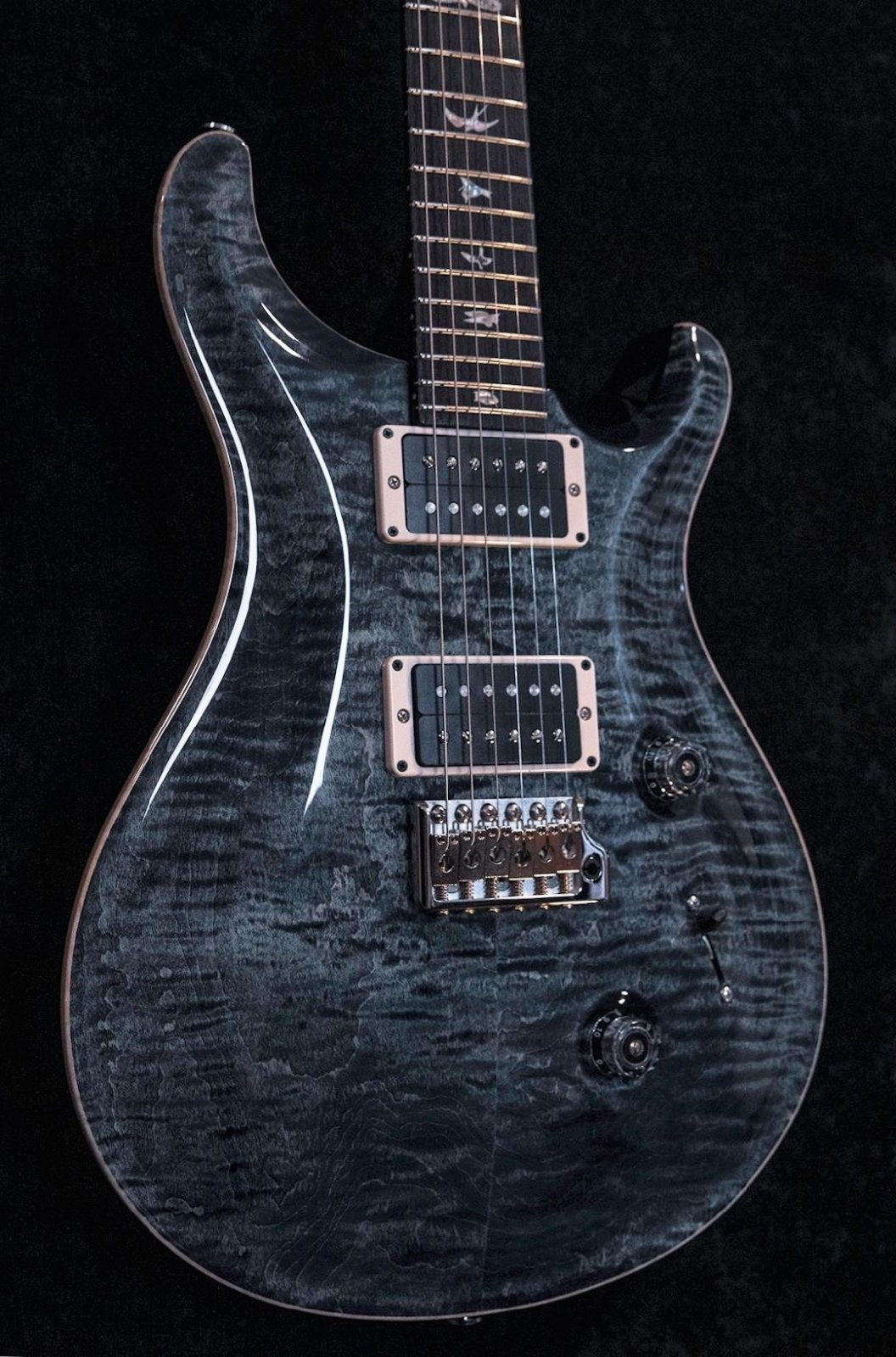 PRS Custom 24 Pattern Thin Faded Whale Blue