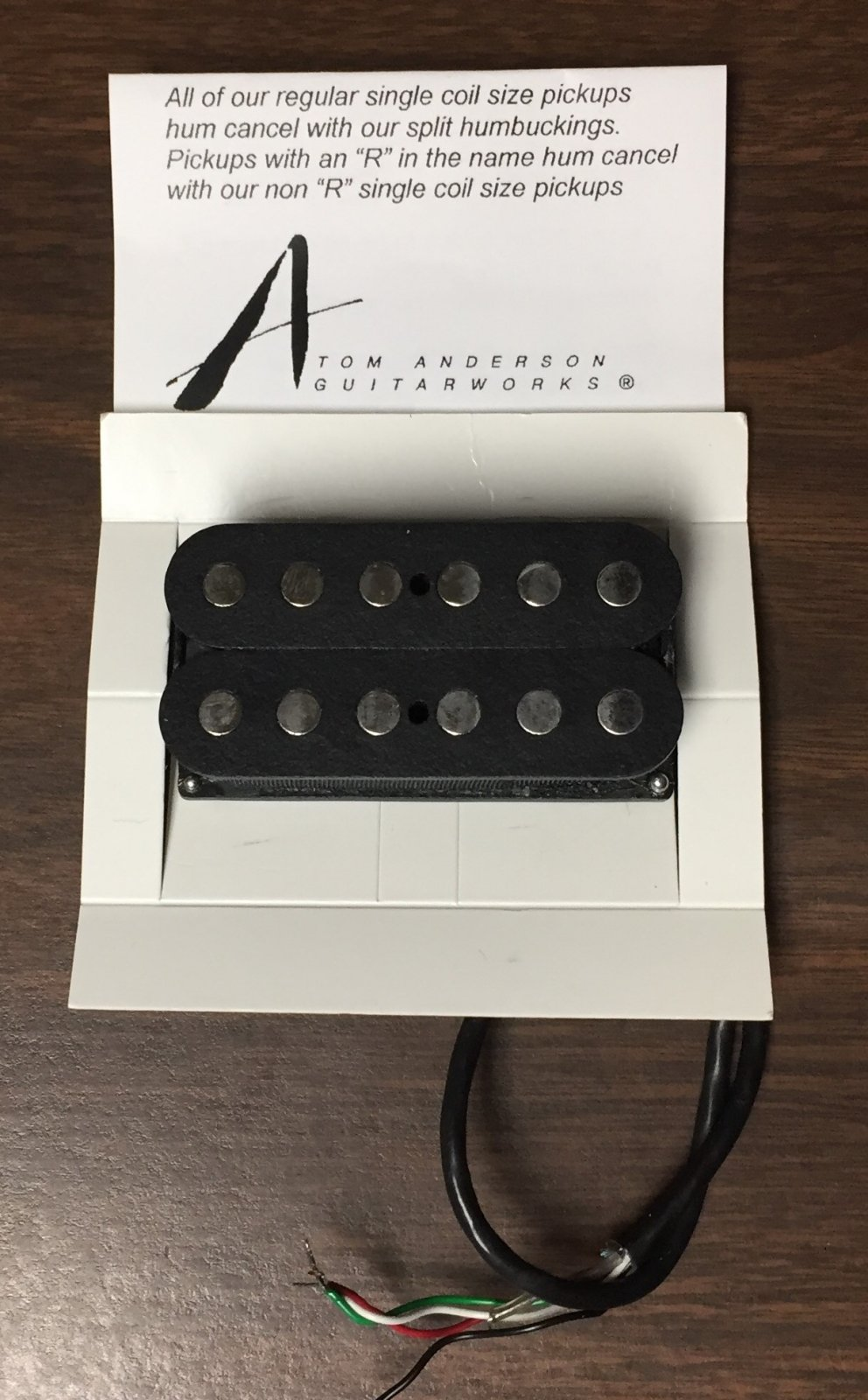 Tom Anderson H1 Pickup Pre-owned Free Priority Shipping