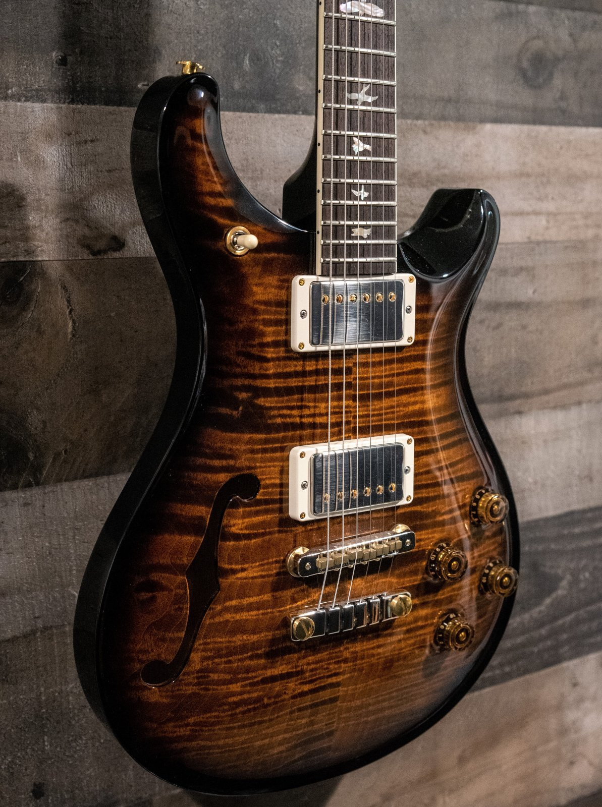 PRS McCarty 594 Semi-Hollow Limited 10 Top Black Gold Burst
