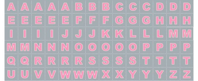 Christmas Glow Letters Pink/Grey