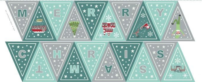 Christmas Glow Blue/Grey Banner