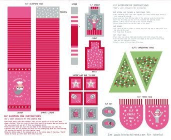 Christmas Glow Elf Accessories Pink