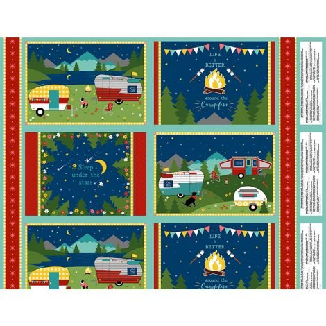 Gone Camping 743 / Place Mat Panel Makes 4