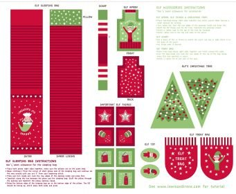 Christmas Glow Elf Accessories Red/Green