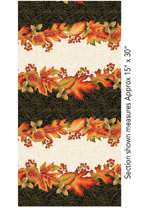 Autumn Leaves Stripe Multi