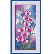 Orchid Shadows Panel Blue