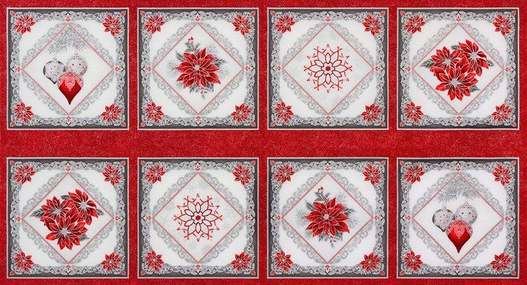 Holiday Flourish Metallic Panel