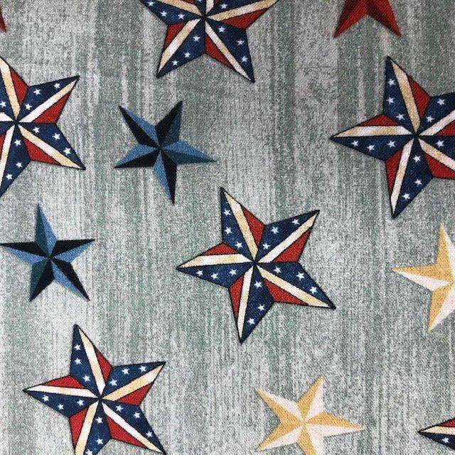 Stars on Wood Grey (American Rustic)