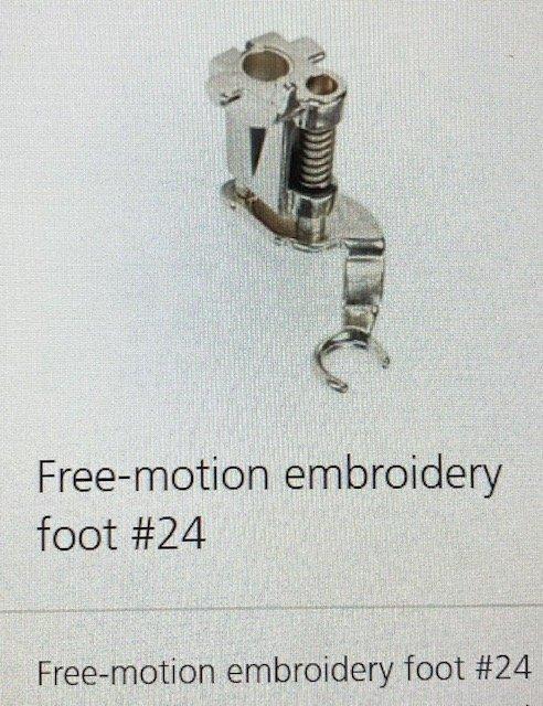 #24 New, Free-motion Emb