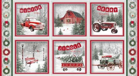 8-Multi Block Print Holiday Wishes