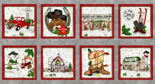 Giddy Up Santa Blocks Panel