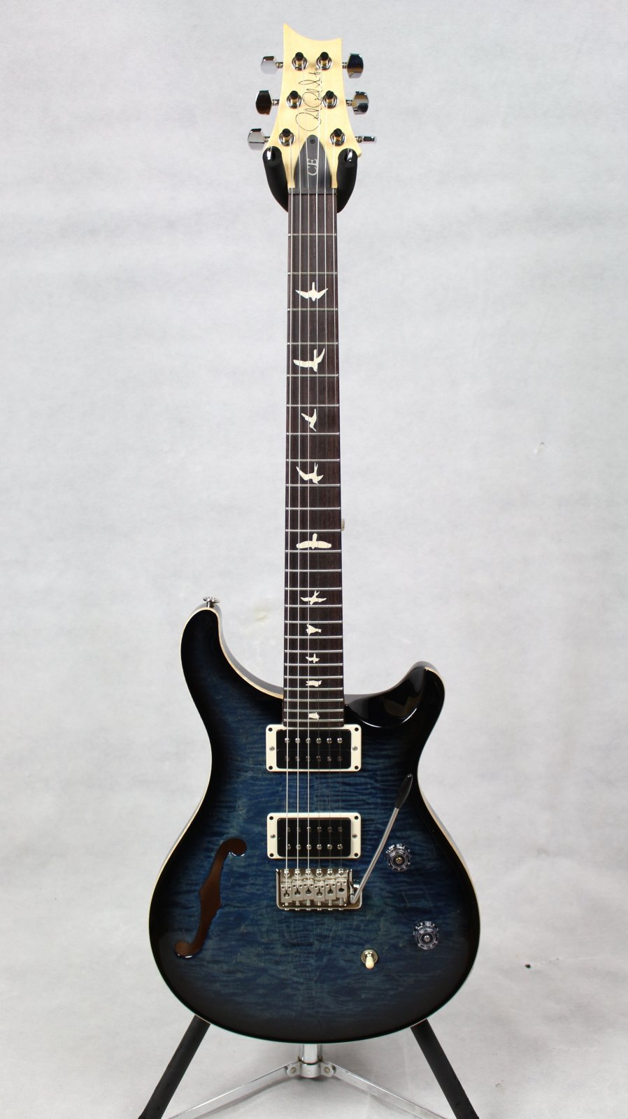 PRS CE24 Semi-Hollow Faded Blue Smokeburst