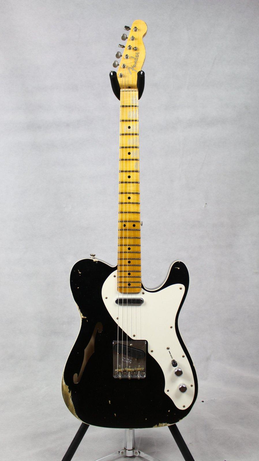 Fender Custom Shop LTD Loaded Thinline Nocaster Reliced Aged Black