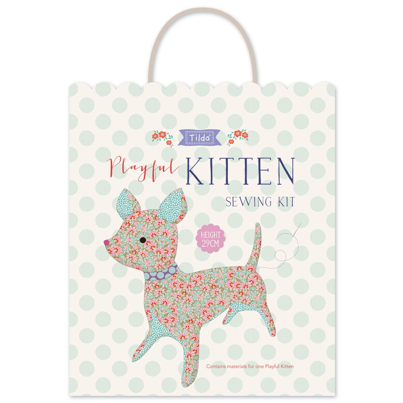 Tilda - Kit Lazy Days Playful Kitten Sewing Kit