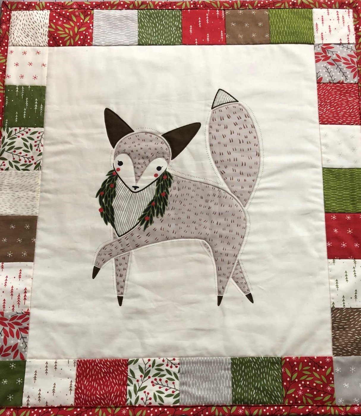 Jolly Wall Quilt Kit  24x27in finished size