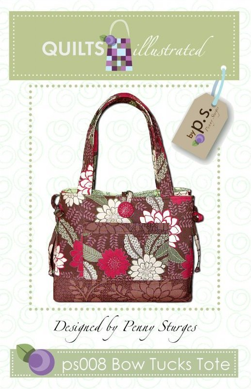 Bow Tucks Tote Purse Pattern