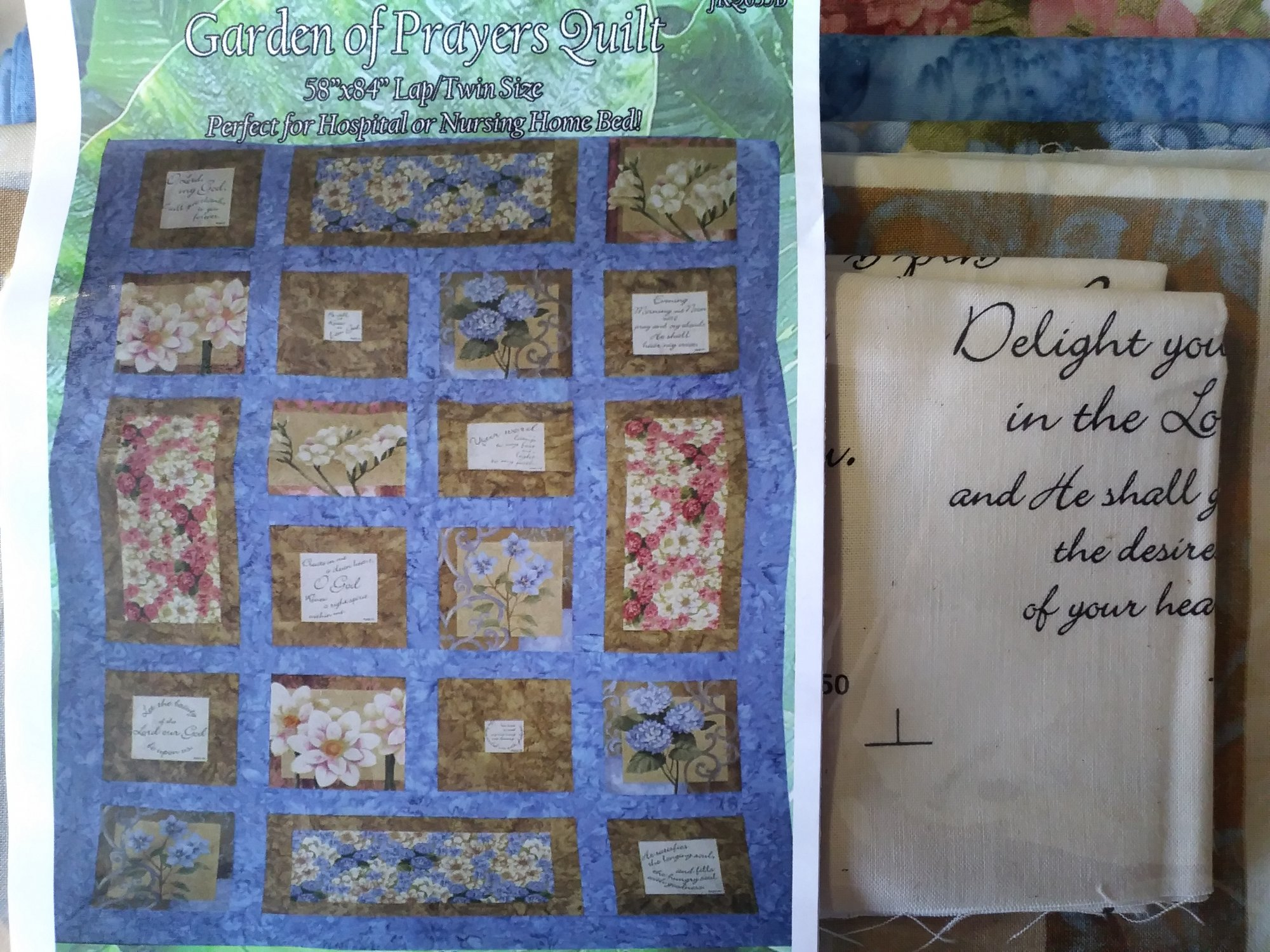 Garden of Prayers Quilt Kit