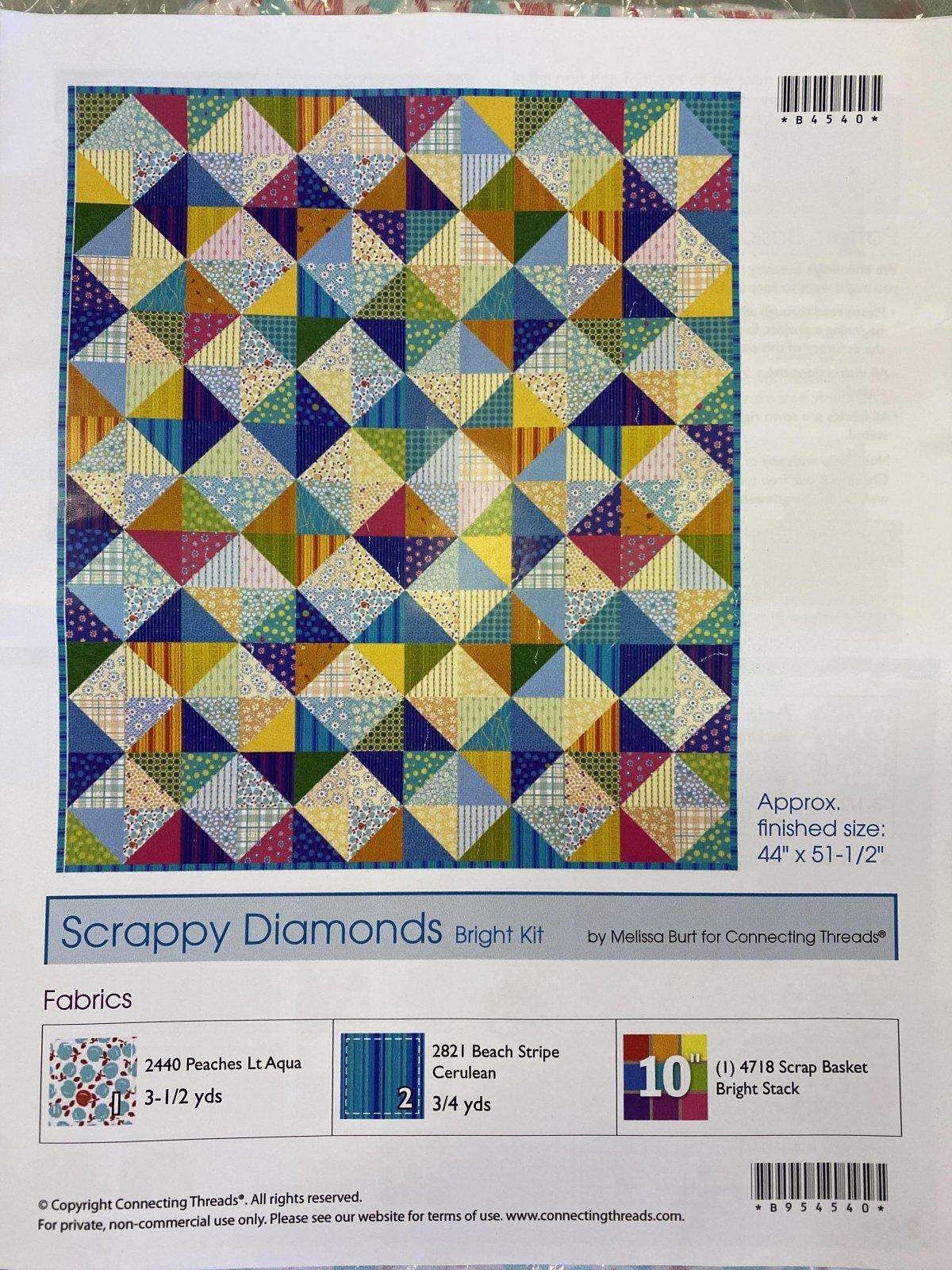 Scrappy Diamonds Quilt Kit