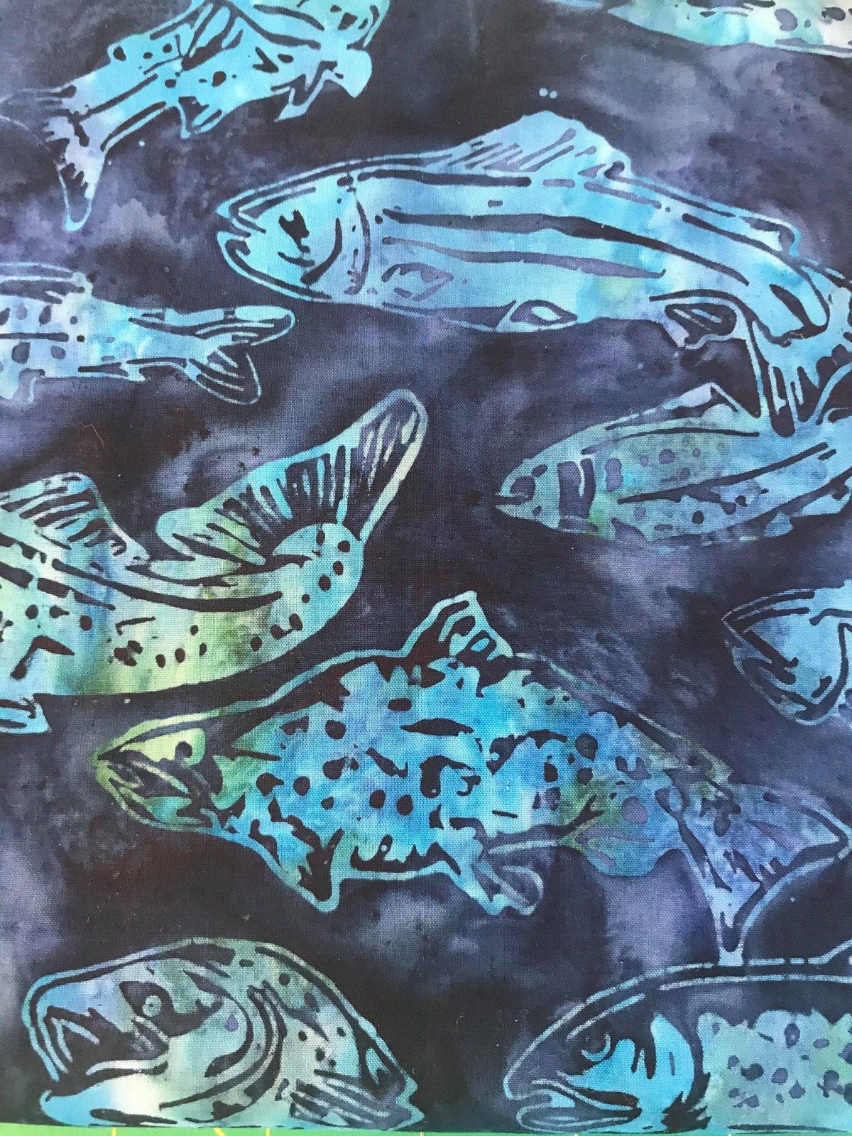 Custom/Fish Blue Green