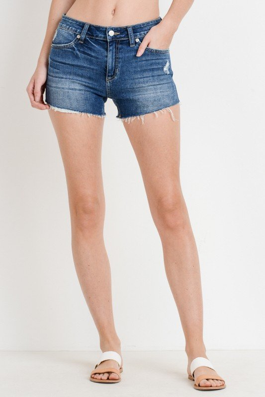 Destroyed shorts w/ peek pkt | 2 Colors