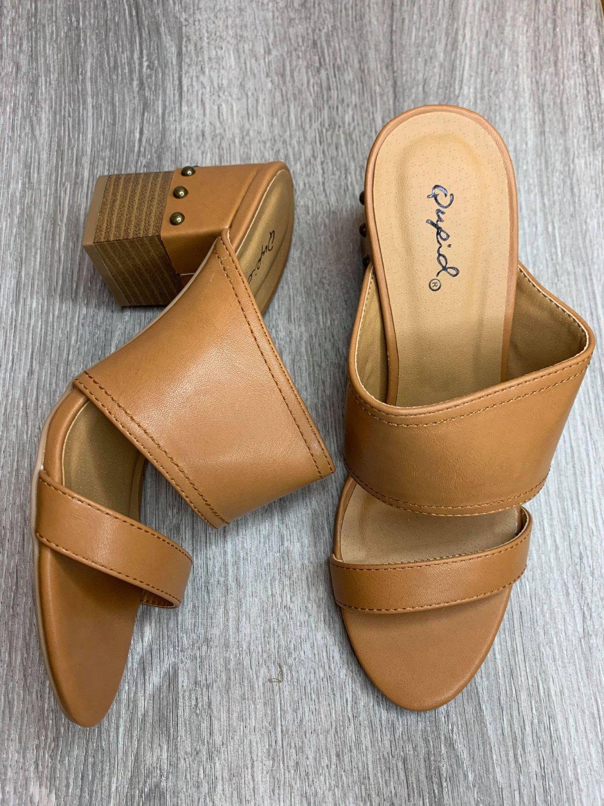 2 Straps w/ studded heel