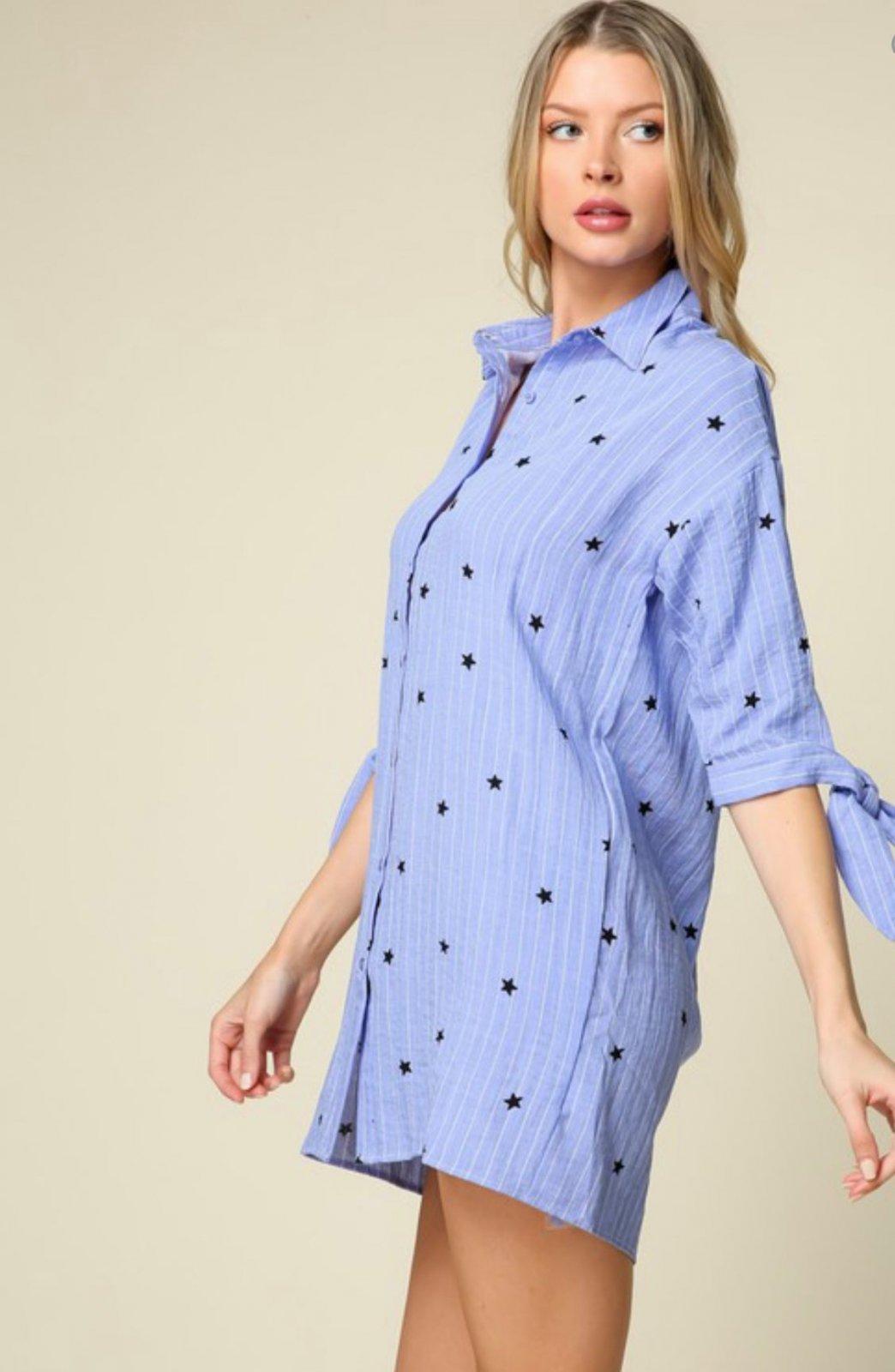 Stripe/Star Shirt Dress