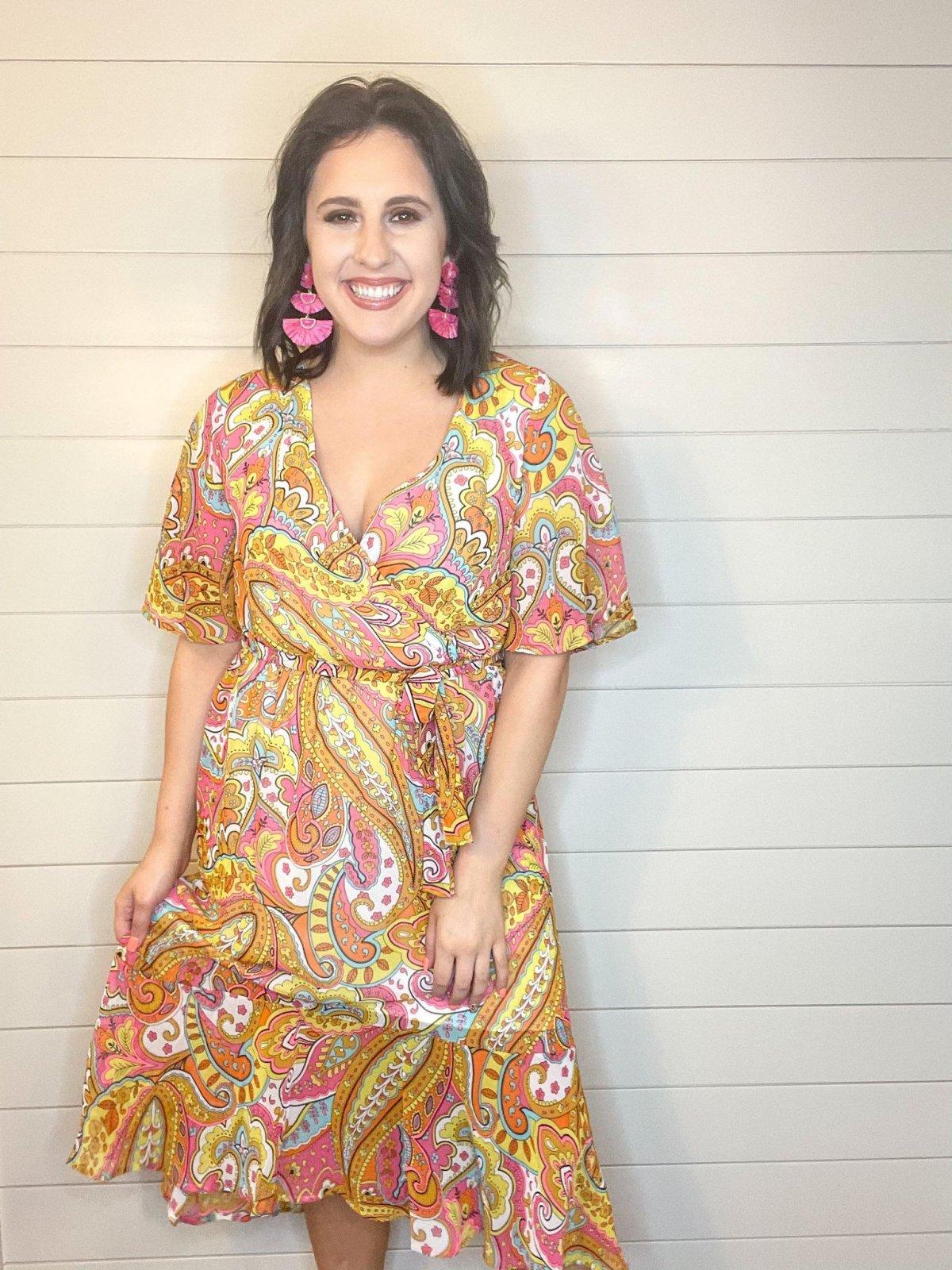 Feelin' groovy paisley print dress