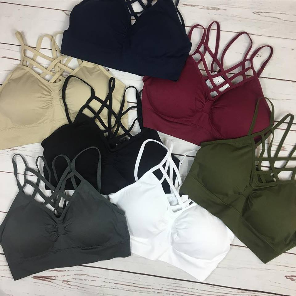 Caged front cupped bralette