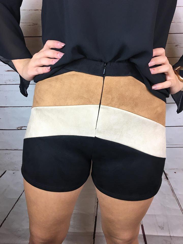 Scuba suede zipper front