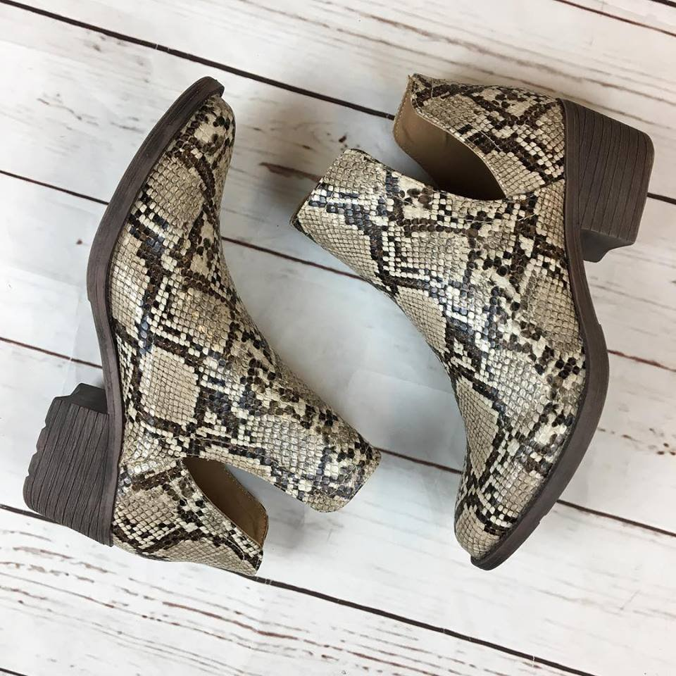 Chronicle  Snake Print Bootie