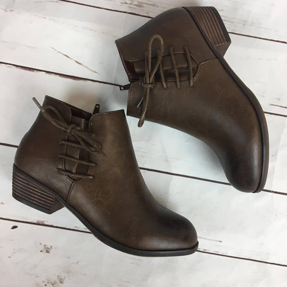 Side lace up bootie