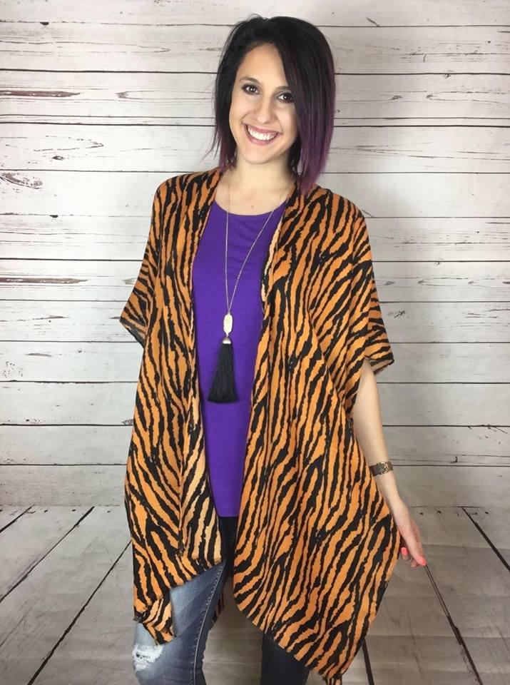 Tiger Print Kimono