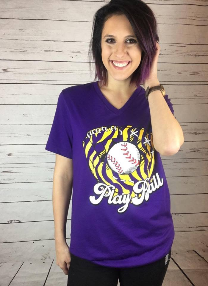Play Ball  S/S  v neck