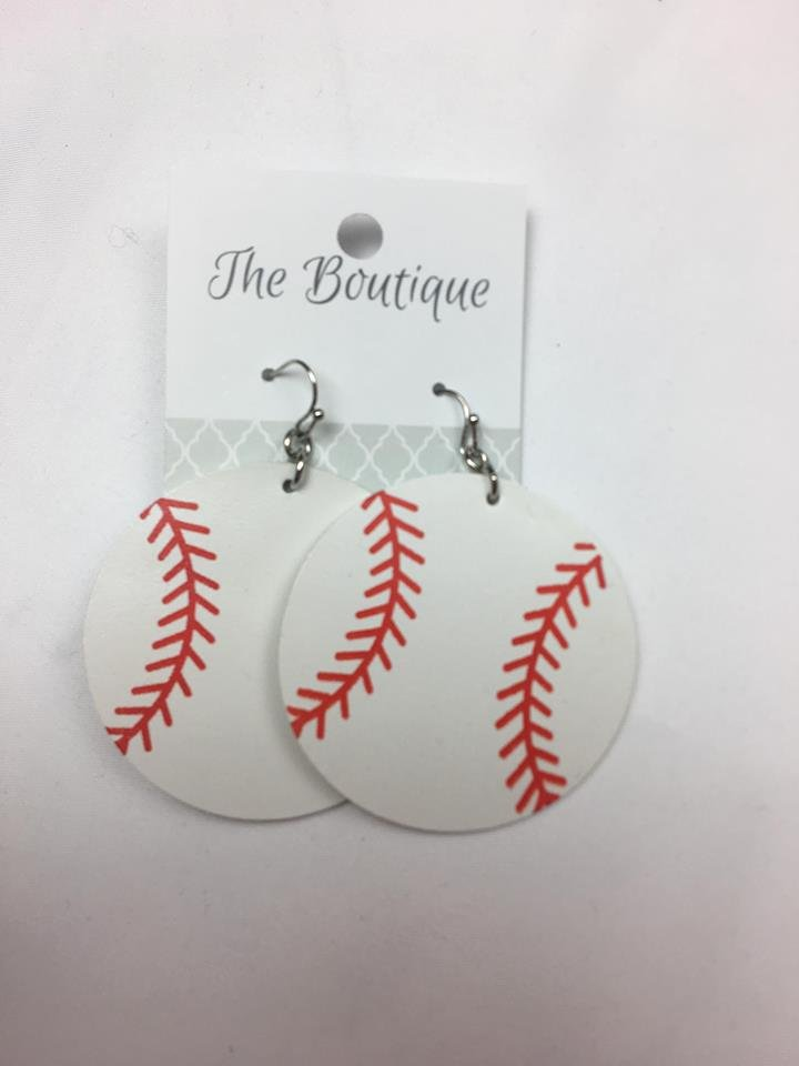 Baseball leather ears