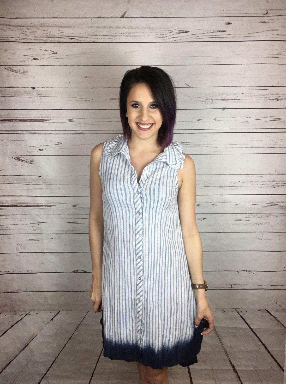 Tie dye btn front dress