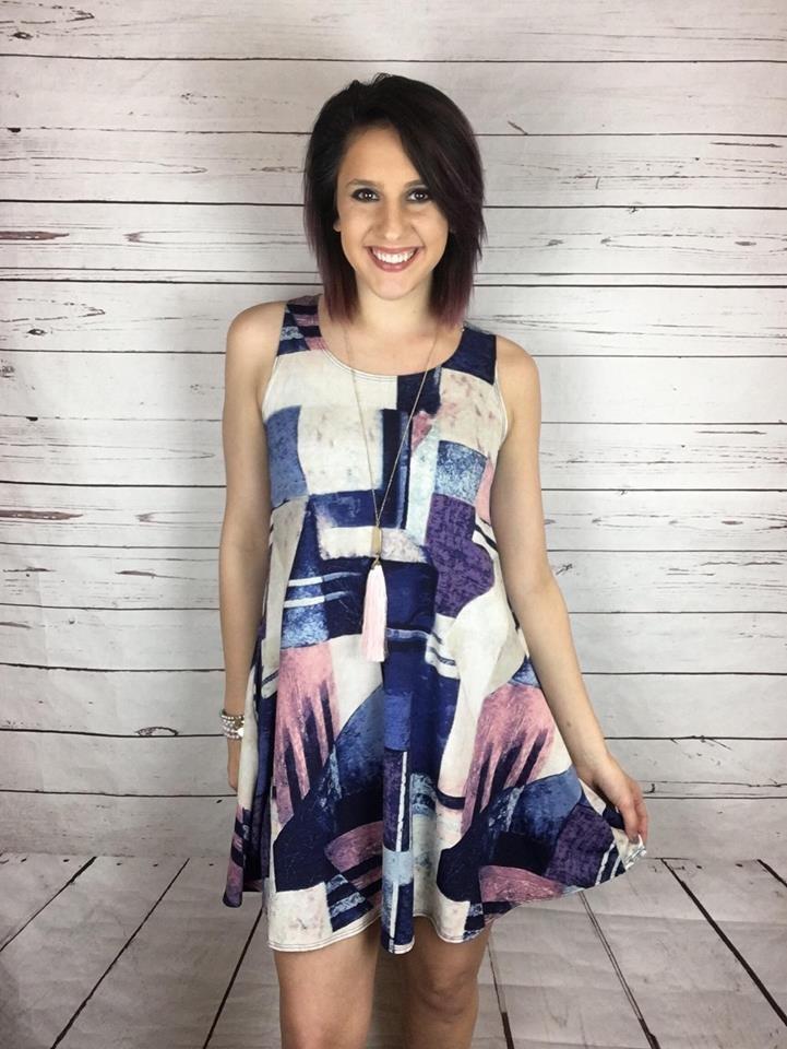 Pocket swing tank dress