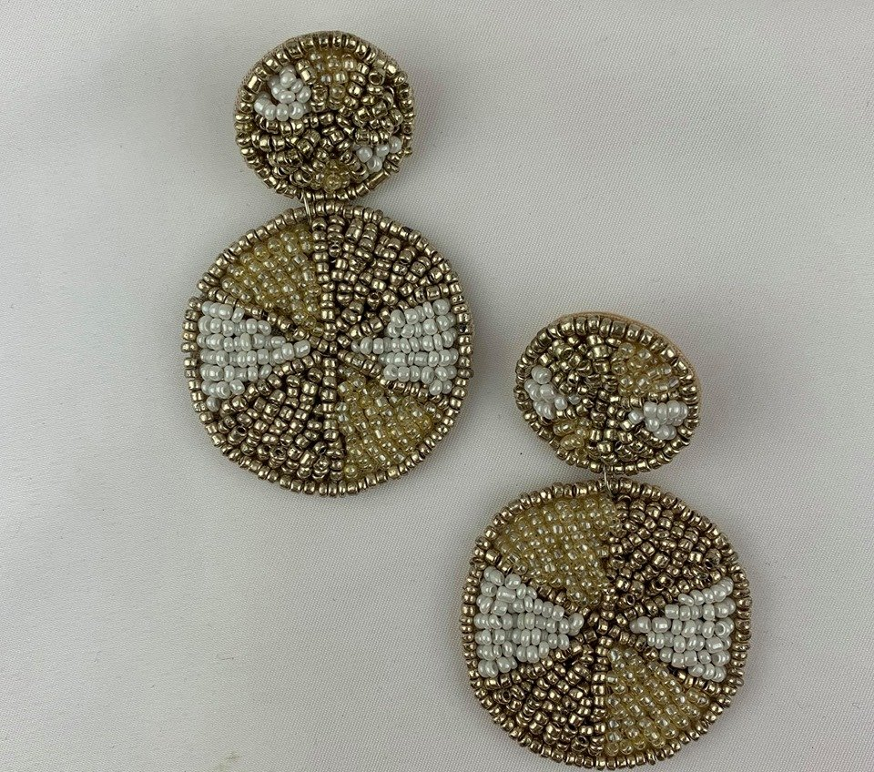 Color Block dbl disc earring