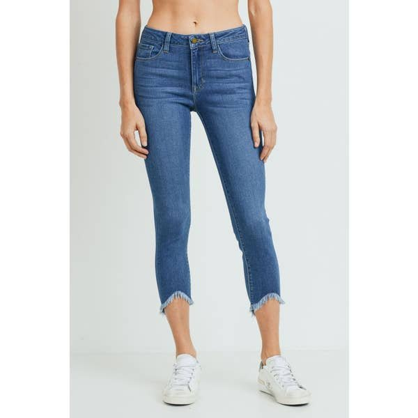 HR Skinny with uneven frayed hem