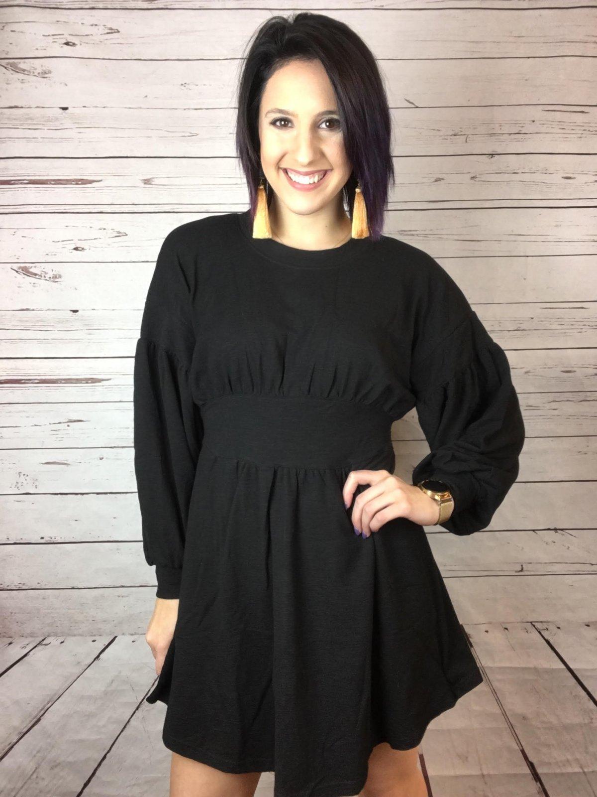Wide waist Tee dress