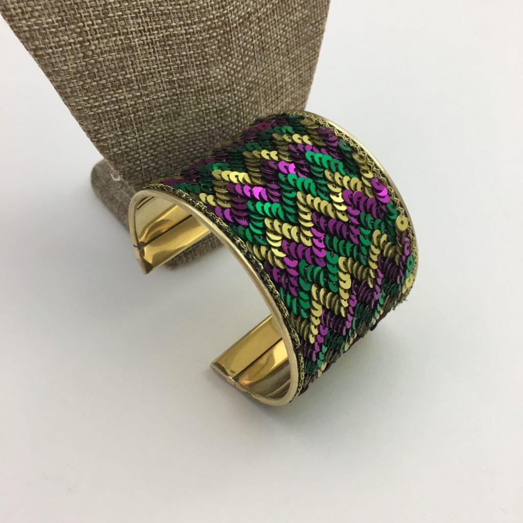 Sequined cuff brac