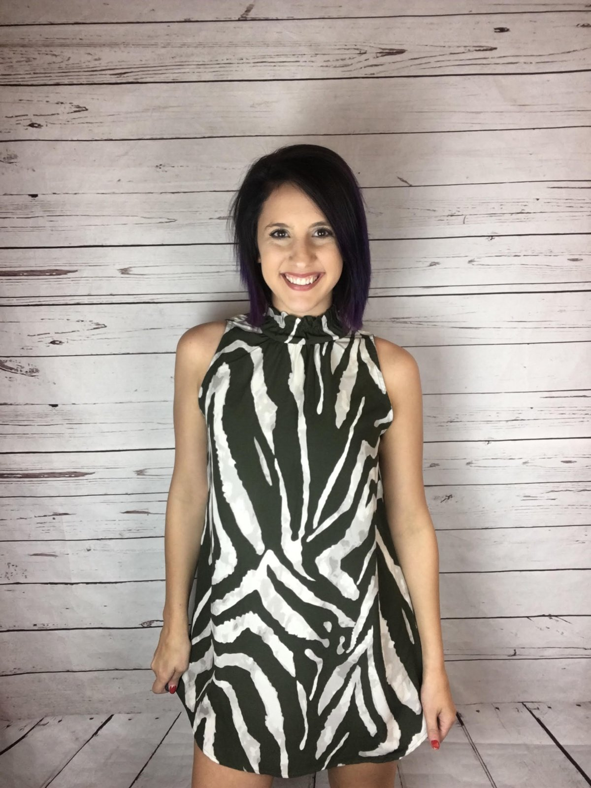 Puckered hi nk zebra print