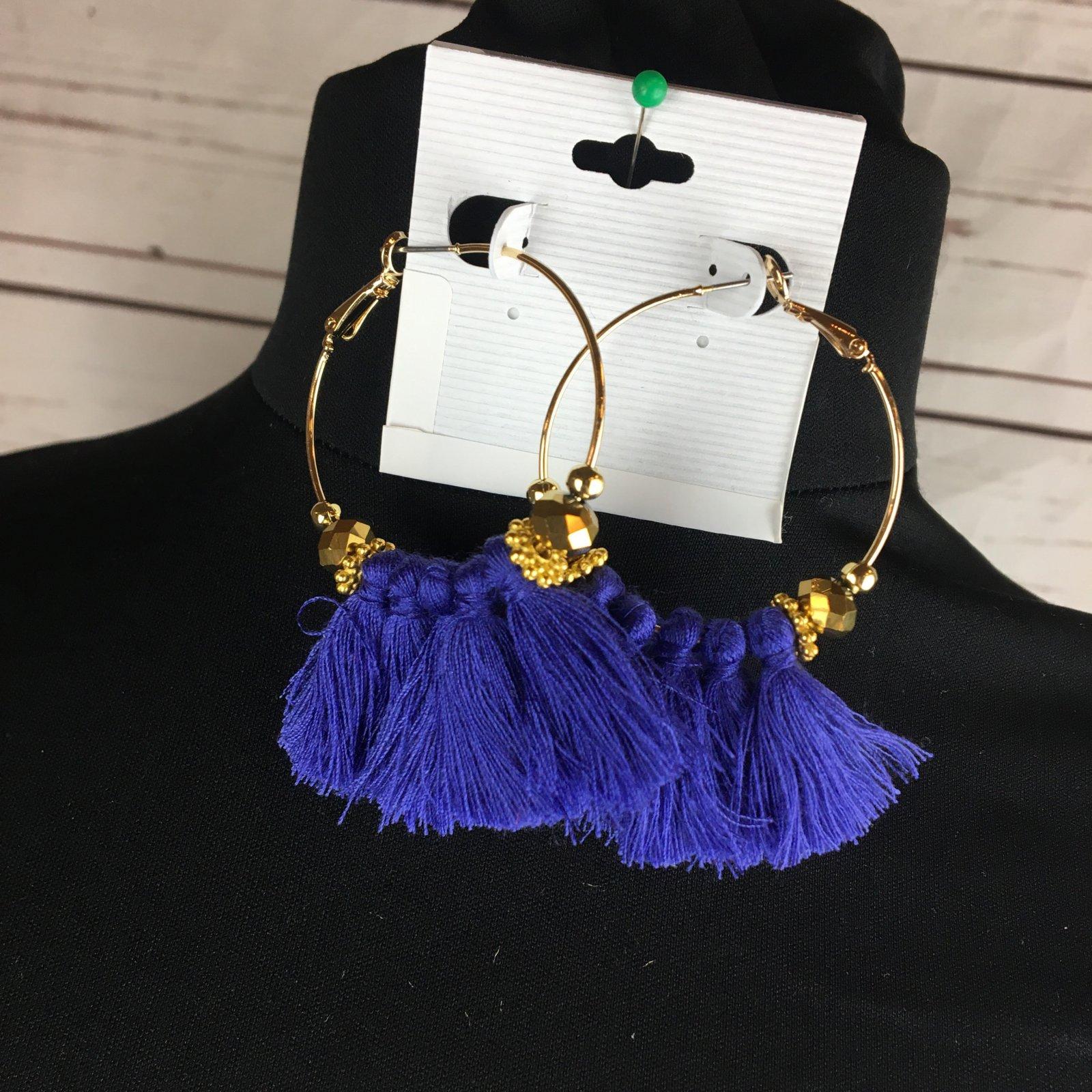 Tassel hoop earring
