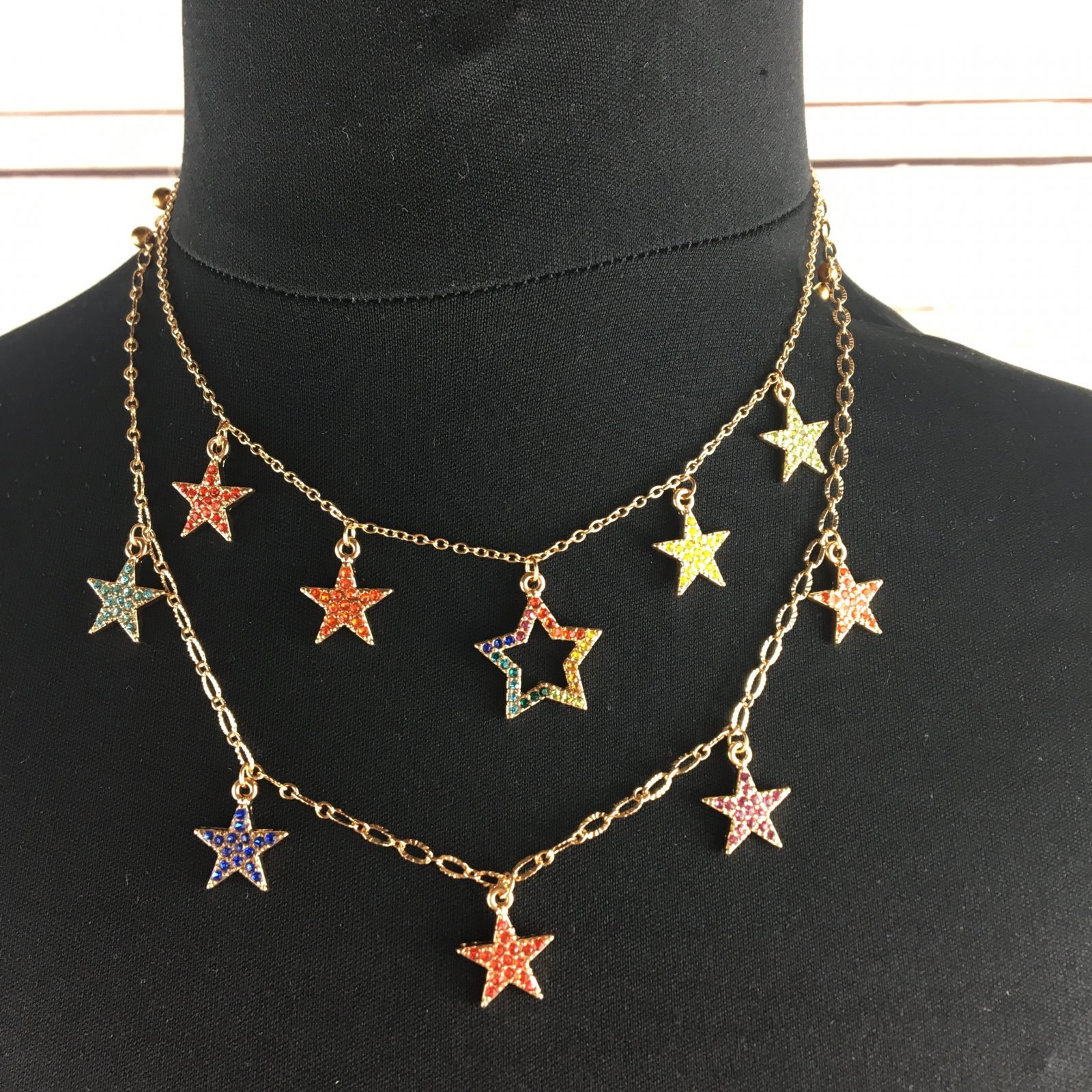 Dancing stars necklace