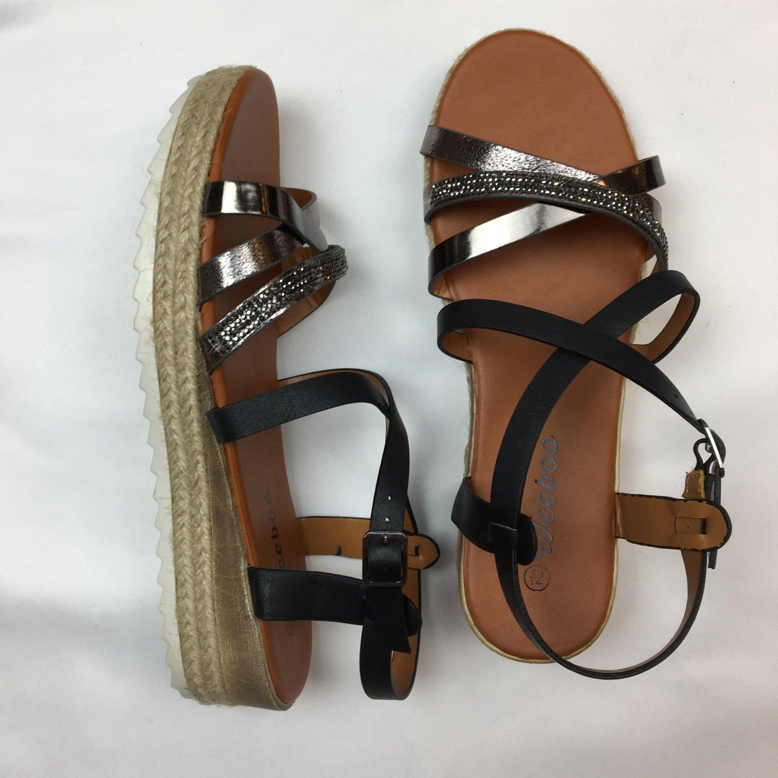 Metallic blend sandal
