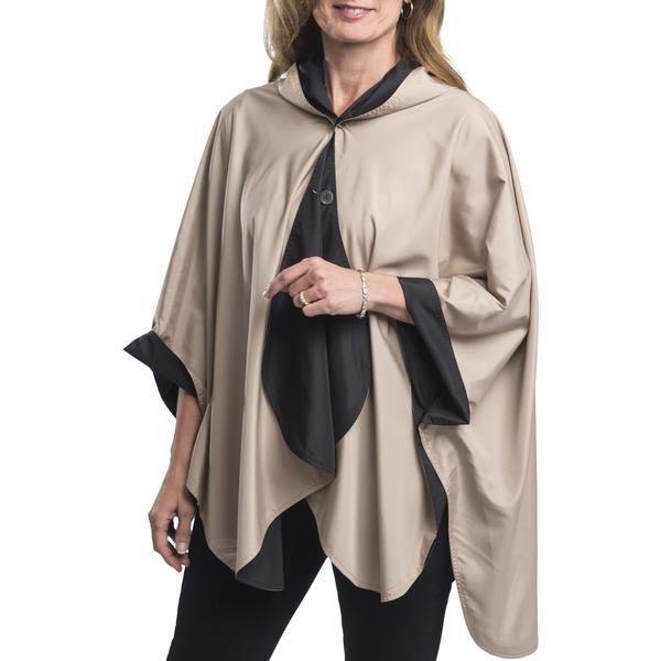 Reversible rain cape