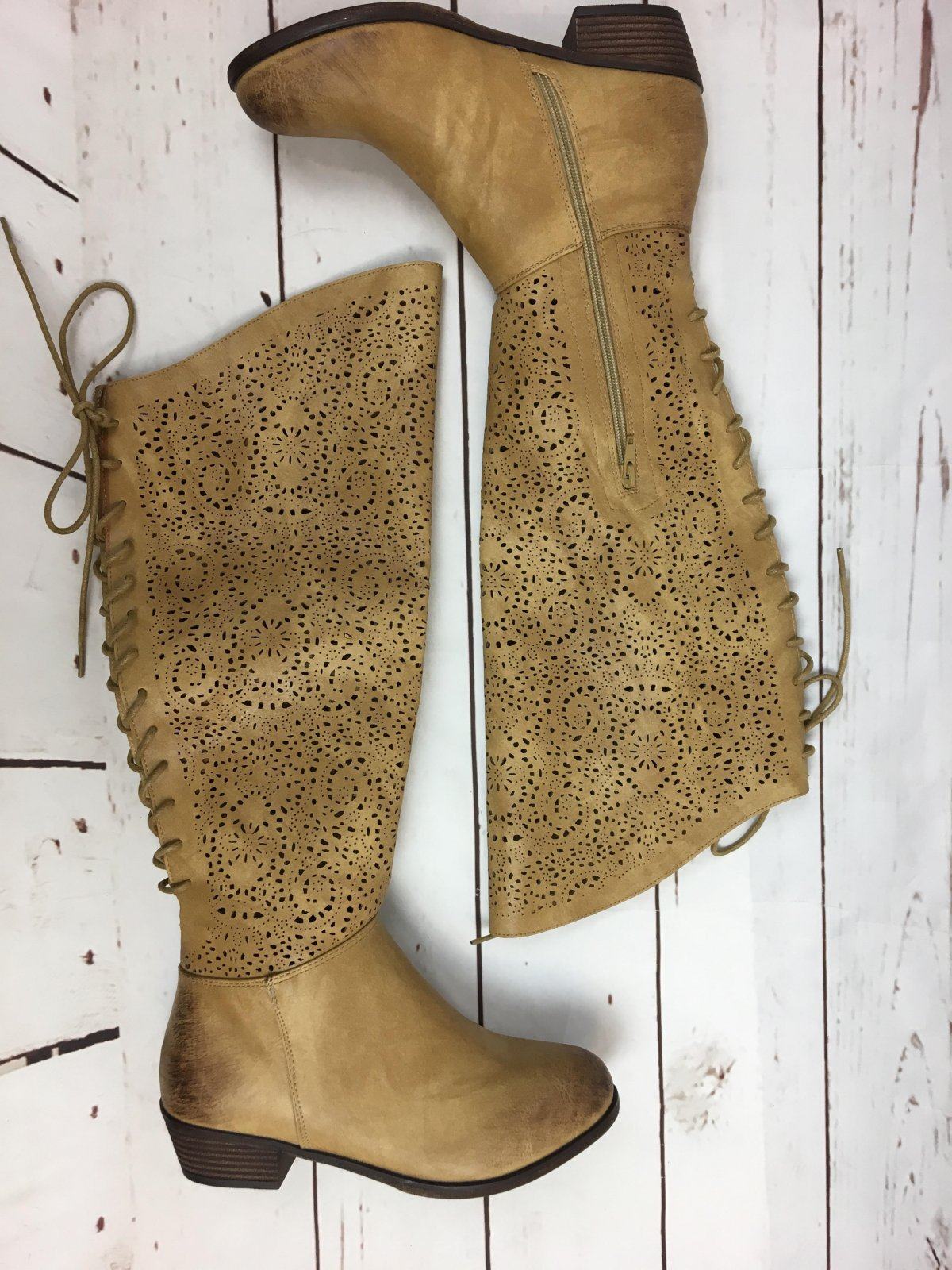 Laser cut upper boot