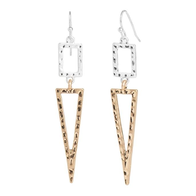 WN004099 Whispers Rectangle/Triangle earring