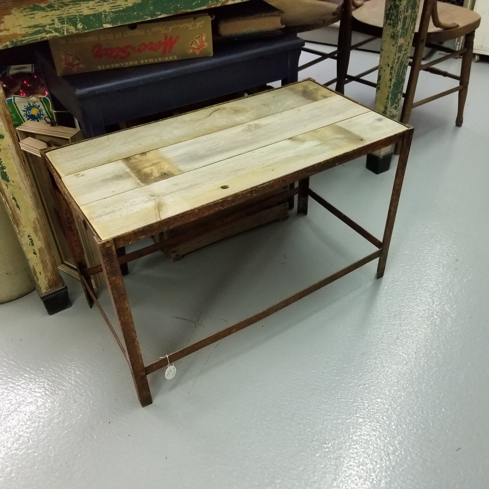 Wood & Metal Coffee Table or Bench